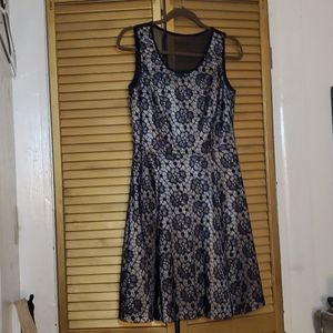 Navy floral lacey dress